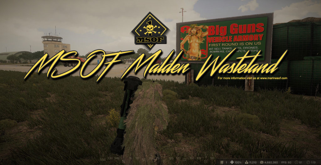 Now Playing Arma3 Malden Wasteland – MSOF