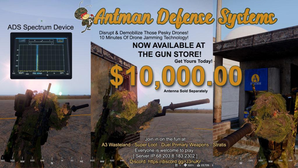 MSOF Arma 3 Wasteland ADS Drone Jammer,